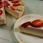 Strawberry-Mango Cheese Cake 3