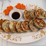 金黃韭菜餅